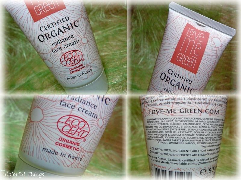 Love me green radiance cream