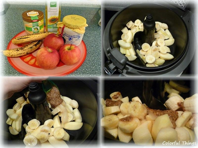 Tefal ActiFry XL Smart Dessert mit Äpfeln und Bananen