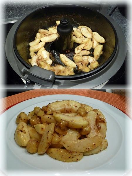 Tefal ActiFry Smart XL Dessert Äpfel und Bananen